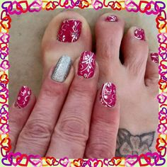 Cute Spring Summer Chevron Nails Manicure Hands Pedicure Feet Jamberry JN Visit Megecon.JamberryNails.Net for more designs