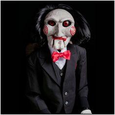Saw puppet prop halloween dummy doll movie haunted horror ooak evil jigsaw trap Jigsaw Doll, Jigsaw Saw, Monster Horror Movies, Horror Movie Characters, Monster Movie, Horror Movie Costumes, Costume Halloween, Saw Costume, Jigsaw Halloween