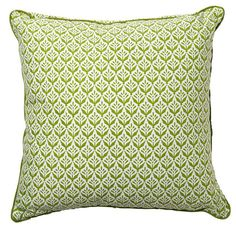 Green Plants Throw Pillow ploverorganic.com  Inspiration for the living room