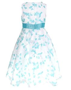 Amazon.com: Organza Party Bridesmaids/Flower Girl Tea-Length Dress 2 to 10 Years: Clothing
