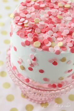 Mini Fondant Confetti Sprinkle Cake