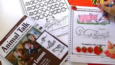 Dyslexia Games are simple workbook style pages that help train the dyslexic brain. We have tried the first book and enjoy it.