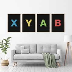Gaming Room Grunge PS4 Xbox Typography SINGLE CANVAS WALL ART Picture Print