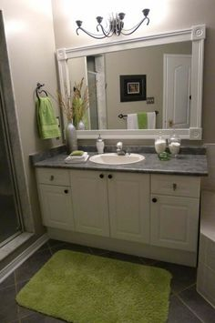 Put a frame around those plain bathroom mirrors.