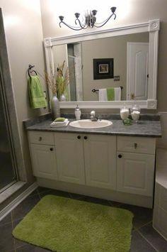 Put a frame around those plain bathroom mirrors.