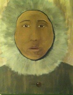 "Original Art Acrylic Portrait Painting ""The Passenger"" 16x24 Unframed"