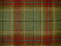 Red green check wool tartan curtain fabric Images on screen cannot do the quality of this material justice. To see it fully please order a sample.