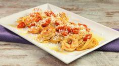 Spaghetti pomodorini gamberi e ricotta salata