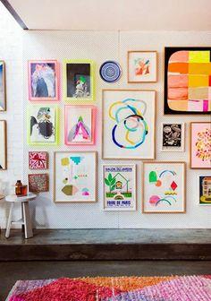 composición de colores y cuadros