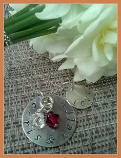 Hand Stamped Personalized Silver Necklace by StampedEvermore, $29.95