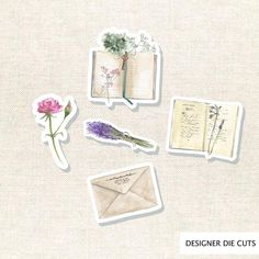 Vintage Books Die Cut Set 004 by Journal Stickers, Scrapbook Stickers, Planner Stickers, Sticker Organization, Student Planner Printable, Shops, Rustic Flowers, Bullet Journal Inspiration, Crafty Projects