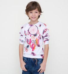 BLUZA DLA DZIECI Z ŁAPACZEM SNÓW - MrGUGUKids - Bluzy i sweterki dla dzieci