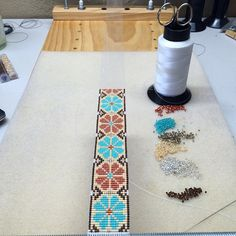 Updates from PuebloAndCo on Etsy Loom Beading, Beading Patterns, Embroidery Patterns, Annie Oakley, Couture Main, Chevron, Indian Patterns, Bead Loom Bracelets, Native American Fashion