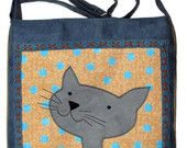 #handmade #cat bag #gift for cat lovers #happy cat #smiling cat #ooak cat bag #ifONA