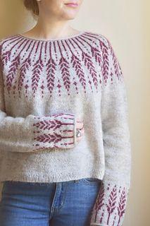 Ravelry: Meadow Moon pattern by Jennifer Steingass Drops Design, Sport Weight Yarn, Knit In The Round, Fair Isle Knitting, Sweater Knitting Patterns, Knit Fashion, Pulls, Long Sleeve Sweater, Lady