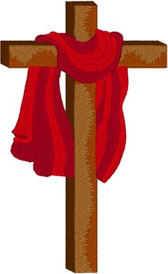 Machine Embroidery Design: Latin Cross & Red Robe