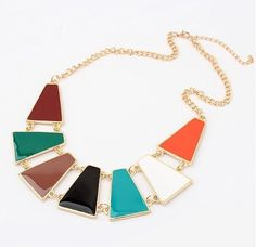 Colourful Trapeziums Necklace Rs.899