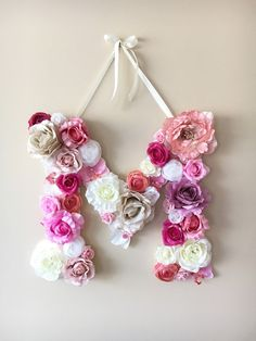 Flower Letters Floral Letters Personalized nursery by PaulettaStore