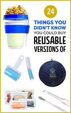 24 Things You Didn't Know You Could Buy Reusable Versions Of...Some things are a definite no, but some are handy