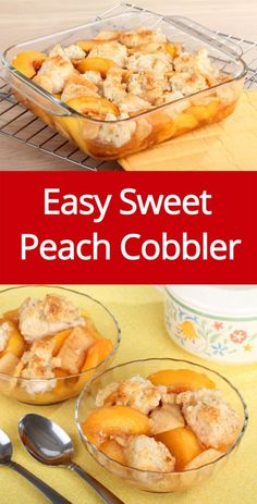 Easy Peach Cobbler Recipe Made With Fresh Sweet Peaches!                                                                                                                                                      More