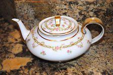 Antique Haviland Limoges Tea Pot Rose Gold Covered Schleiger 880