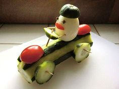 Rennfahrer - My list of simple and healthy recipes Healthy Meals For Kids, Kids Meals, Cute Food, Good Food, Funny Food, Food Art For Kids, Creative Food Art, Food Sculpture, Food Carving