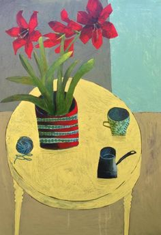 'Red Amaryllis' by South-African born, England-based artist Este MacLeod