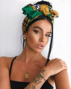 Trendy Summer Hairstyles of 2019 Bandana Hairstyles, Summer Hairstyles, Cool Hairstyles, Fashion Hairstyles, Hairstyles With Scarves, Hair Scarf Styles, Curly Hair Styles, Natural Hair Styles, Hair Wrap Scarf