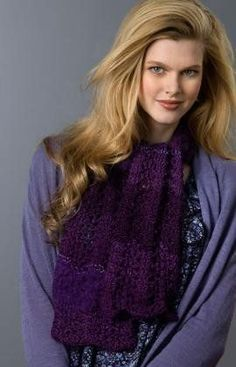 Lovely Lace Scarf  http://www.allfreeknitting.com/Knit-Scarves/lovely-lace-scarf