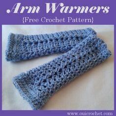 Beginning Crochet Oui Crochet: Arm Warmers {Free Crochet Pattern} I sized hook makes a small diameter. Either chain more than 30 loops at the begining or use a bigger hook Crochet Fingerless Gloves Free Pattern, Crochet Mittens, Crochet Gloves, Crochet Slippers, Free Crochet, Knit Crochet, Crochet Ideas, Crochet Projects, Crochet Things