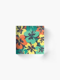 """""""Flower Print, Flower Pattern"""" Acrylic Block by MsD7 
