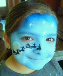 christmas face paint ideas - Google Search