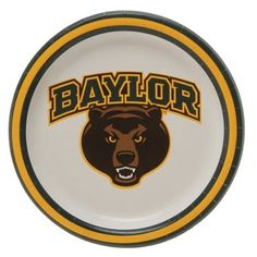 Baylor Bears 8-Pack Lunch Plate Set // Baylor-themed birthday party!