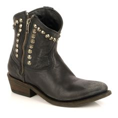 Ash Crosby Studded Western Ankle Boot