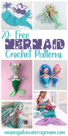 20+ Free Mermaid crochet patterns including Amigurumi dolls, mermaid tail blankets, baby outfits and more! Free Crochet, Crochet Hats, Mermaid Tail Blanket, Mermaid Birthday, Amigurumi Doll, Crochet Necklace, Crochet Patterns, Baby Outfits, Blankets