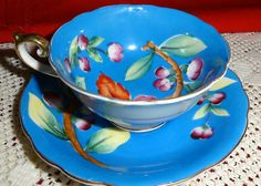 Floral Occupied Japan Bone China Cup Saucer Handpainted  Tucson Tiques Collectibles