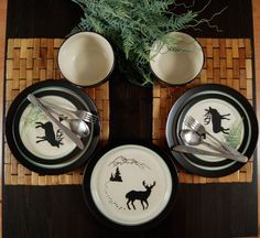 """Our lovely """"Winter forest"""" tableware"""