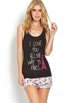 All the Way to Paris PJ Set | FOREVER21 - 2000071015