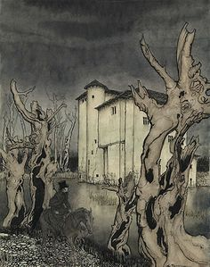 """The Fall of the House of Usher"" , Arthur Rackham, 1935"