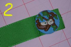 Ribbon Button Bookmarks : an easier version for the boys gift