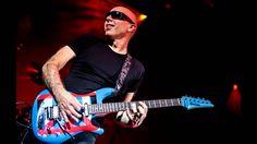 Joe Satriani with one of his Ibanez guitars. Joe Satriani, Strat Guitar, Guitar Tuners, Steve Vai, John Petrucci, Best Guitarist, Guitar Neck, Backing Tracks, Song One
