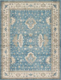 Salzburg Light Blue Area Rug