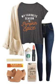 """Pumpkin spice and everything nice"" by lbkatie17 ❤ liked on Polyvore featuring LC Trendz, Paula Dorf, Casetify, Jack Rogers and AERIN"