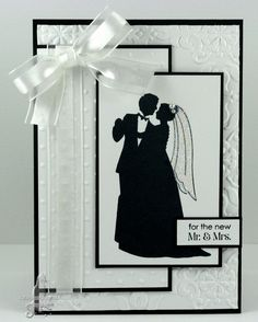 black and white wedding card - bjl