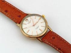 1950s gents Longines Conquest watch. Offered by Timespec at Grays
