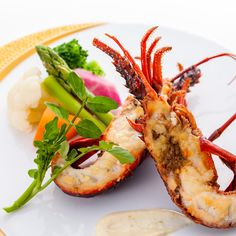 Grilled Ise lobster with butter