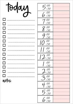 Printable Daily To Do List – Organisation – Bullet Journal To Do Planner, Daily Planner Pages, Study Planner, Life Planner, Agenda Planner, Cute Daily Planner, 2016 Planner, College Planner, School Planner