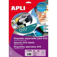 Comprar Etiquetas Especiales Para Dvd , Acabado Mate Apli 11204 #multimedia #etiquetas #especiales #DVD #acabado #mate