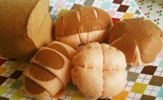 DIY felt Lovely bread set5 in 1 PDF tutorial and by fairyfox, $4.99