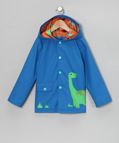 Take a look at this Royal Dinosaur Raincoat - Infant & Toddler by Raindrops on #zulily today!